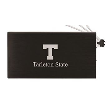 8000 mAh Portable Cell Phone Charger-Tarleton State University -Black