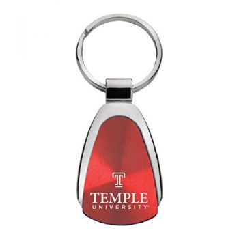 Temple University - Teardrop Keychain - Red