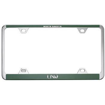 University of North Dakota-Metal License Plate Frame-Green