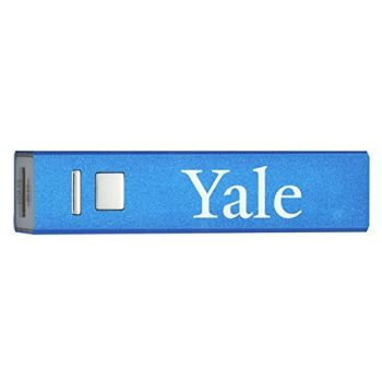 Yale University - Portable Cell Phone 2600 mAh Power Bank Charger - Blue