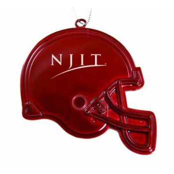 New Jersey Institute of Technology - Chirstmas Holiday Football Helmet Ornament - Red