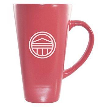 Longwood University-16 oz. Tall Ceramic Coffee Mug-Pink