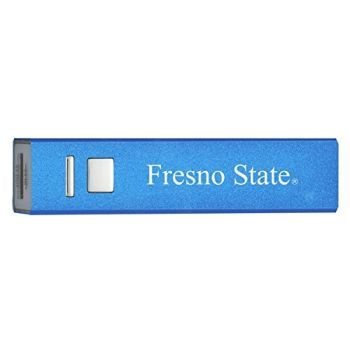 California State University, Fresno - Portable Cell Phone 2600 mAh Power Bank Charger - Blue