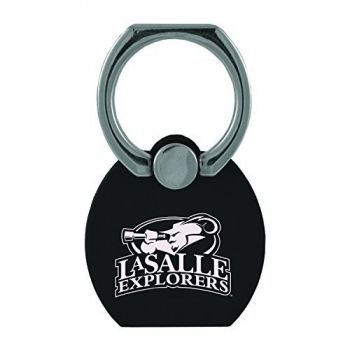 La Salle State University|Multi-Functional Phone Stand Tech Ring|Black
