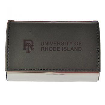 Velour Business Cardholder-The University of Rhode Island-Black