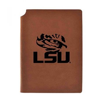 Louisiana State University Velour Journal with Pen Holder|Carbon Etched|Officially Licensed Collegiate Journal|