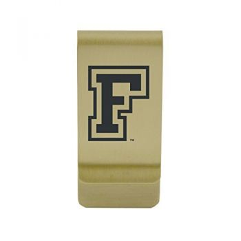 Florida State University|Money Clip with Contemporary Metals Finish|Solid Brass|High Tension Clip to Securely Hold Cash, Cards and ID's|Silver