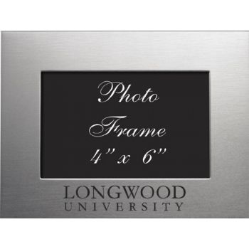Longwood University - 4x6 Brushed Metal Picture Frame - Silver