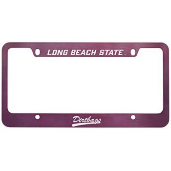 Long Beach State University -Metal License Plate Frame-Pink