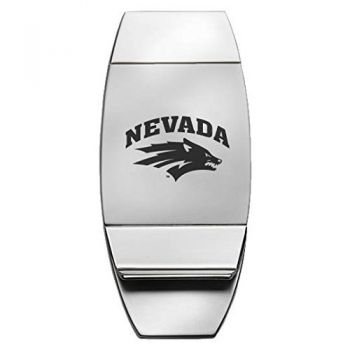 University of Nevada, Reno - Two-Toned Money Clip - Silver