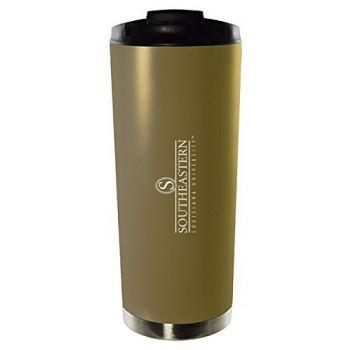 Southeastern Louisiana University-16oz. Stainless Steel Vacuum Insulated Travel Mug Tumbler-Gold