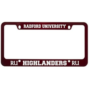 Radford University -Metal License Plate Frame-Red