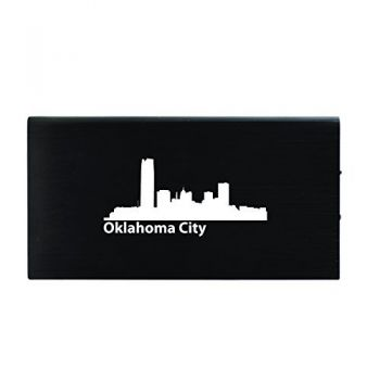 Oklahoma City, Oklahoma-8000 mAh Portable Cell Phone Charger-Black