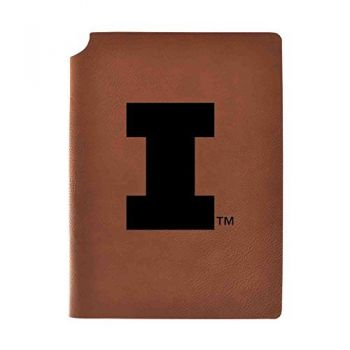 University of Illinois Velour Journal with Pen Holder|Carbon Etched|Officially Licensed Collegiate Journal|