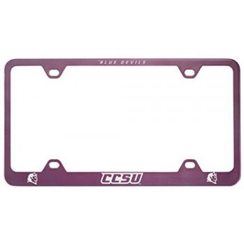 Central Connecticut University-Metal License Plate Frame-Pink