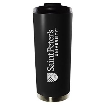 Saint Peter's University-16oz. Stainless Steel Vacuum Insulated Travel Mug Tumbler-Black