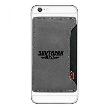 University of Southern Mississippi-Cell Phone Card Holder-Grey
