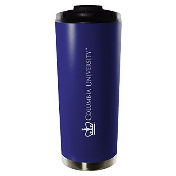 Columbia University-16oz. Stainless Steel Vacuum Insulated Travel Mug Tumbler-Blue