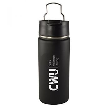Central Washington University -20 oz. Travel Tumbler-Black