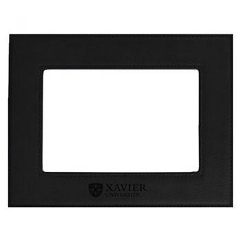Xavier University-Velour Picture Frame 4x6-Black
