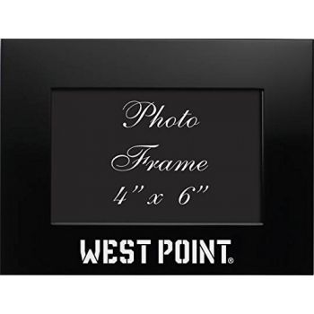 United States Military Academy at West Point - 4x6 Brushed Metal Picture Frame - Black