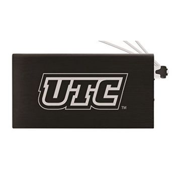 8000 mAh Portable Cell Phone Charger-University of Tennessee at Chattanooga-Black