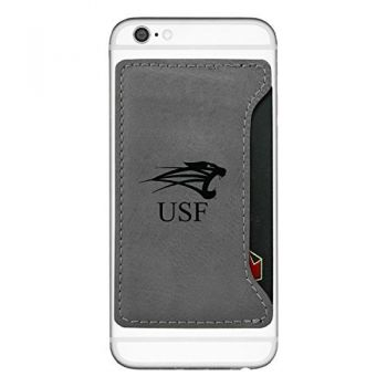 University of Saint Francis-Fort Wayne-Cell Phone Card Holder-Grey