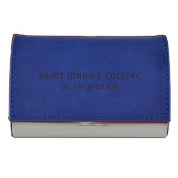 Velour Business Cardholder-Saint Mary's College of California-Blue