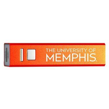 University of Memphis - Portable Cell Phone 2600 mAh Power Bank Charger - Orange