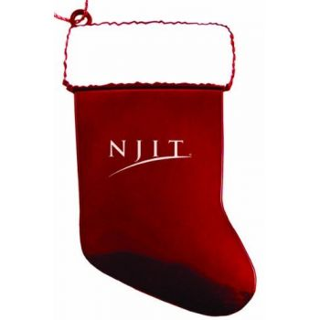 New Jersey Institute of Technology - Chirstmas Holiday Stocking Ornament - Red