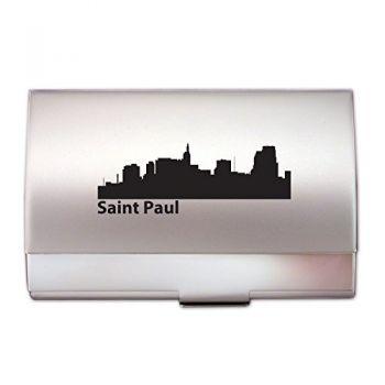 Saint Paul, Minnesota-Two-Tone Business Card Holder-Silver