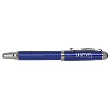 Liberty University - Carbon Fiber Rollerball Pen - Blue