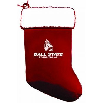 Ball State University - Chirstmas Holiday Stocking Ornament - Red