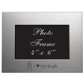 4 x 6  Metal Picture Frame  - I Love My Beagle