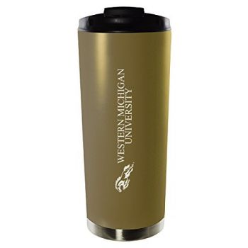 Western Michigan University-16oz. Stainless Steel Vacuum Insulated Travel Mug Tumbler-Gold