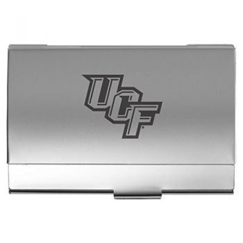 University of Central Florida - Two-Tone Business Card Holder - Silver