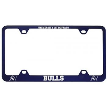 University at Buffalo-The State University of New York -Metal License Plate Frame-Blue