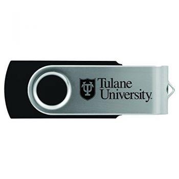 Tulane University -8GB 2.0 USB Flash Drive-Black