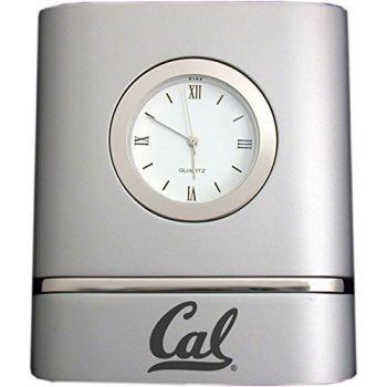 University of California, Berkeley- Two-Toned Desk Clock -Silver