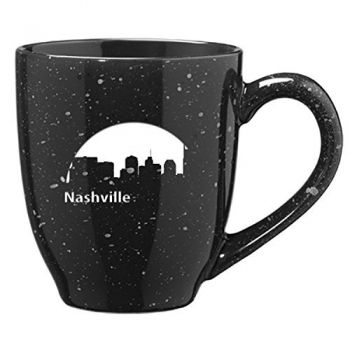 16 oz Ceramic Coffee Mug with Handle - Nashville City Skyline