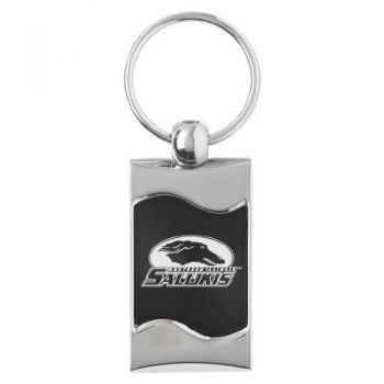 Southern Illinois University - Wave Key tag - Black