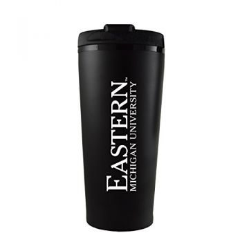Eastern Michigan University-16 oz. Travel Mug Tumbler-Black