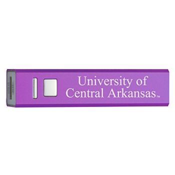 University of Central Arkansas - Portable Cell Phone 2600 mAh Power Bank Charger - Purple