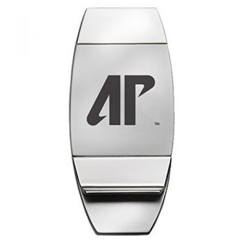 Austin Peay State University - Two-Toned Money Clip - Silver