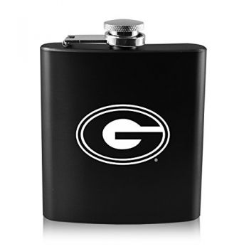 Grambling State University-6 oz. Color Stainless Steel Flask-Black