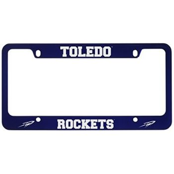 University of Toledo -Metal License Plate Frame-Blue