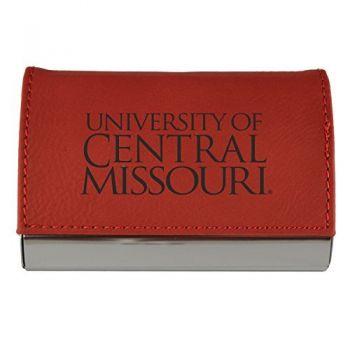 Velour Business Cardholder-University of Central Missouri-RED
