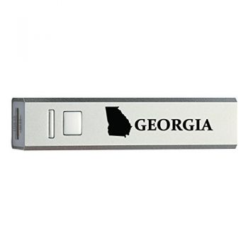 Georgia-State Outline-Portable 2600 mAh Cell Phone Charger-