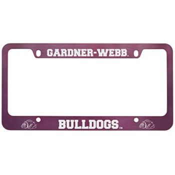 Gardner-Webb University-Metal License Plate Frame-Pink
