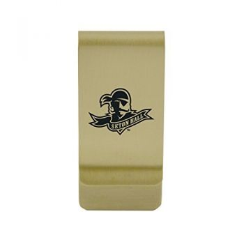 Southeastern Louisiana University|Money Clip with Contemporary Metals Finish|Solid Brass|High Tension Clip to Securely Hold Cash, Cards and ID's|Silver